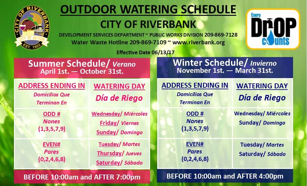 Website- Facebook Summer and Winter Watering Schedule Card