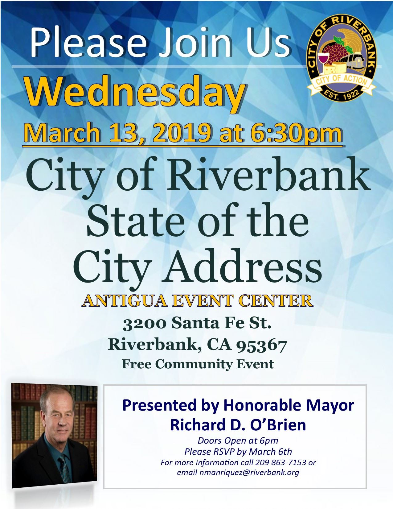 2019 Riverbank State of the City Address Flyer