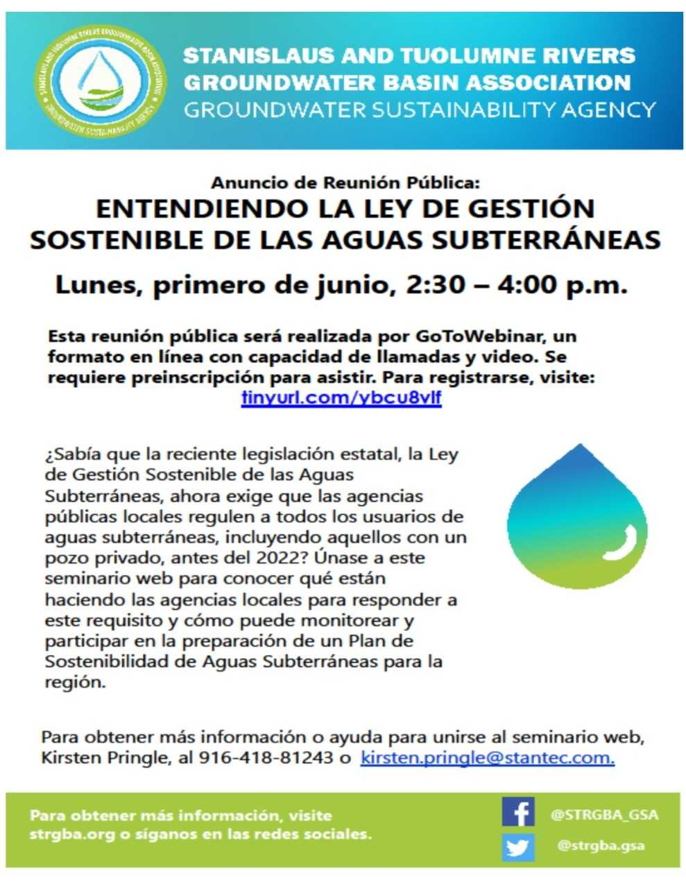 Spanish and English Ground Water Public Notice Flyer